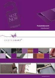 Neuheiten 2013 für Hotels als pdf-Datei - Gastrokart