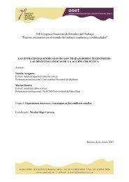 """VII Congreso Nacional de Estudios del Trabajo """"Nuevos ... - ASET"""