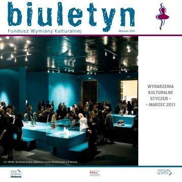Marzec 2011 - Fundusz Wymiany Kulturalnej - Ministerstwo Kultury i ...