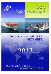 CWT Sailing Schedules Web Uploads DECEMBER ... - CWT Globelink