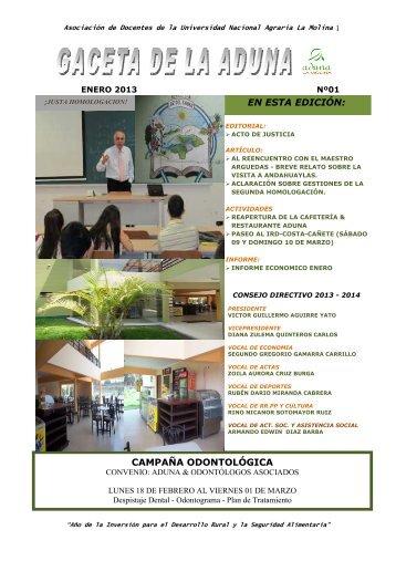 GACETA ENERO - Universidad Nacional Agraria La Molina