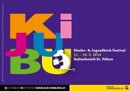 Kinder- & Jugendbuch Festival 11. – 16. 3. 2014 Kulturbezirk St ...
