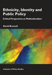 Ethnicity, Identity and Public Policy - Institute for Governance and ...