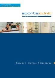 Klinikbroschüre - sportsclinic Germany