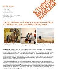 The Studio Museum in Harlem Announces 2011–12 Artists in ...