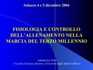 Fisiologia e i test di controllo - Fidal Piemonte