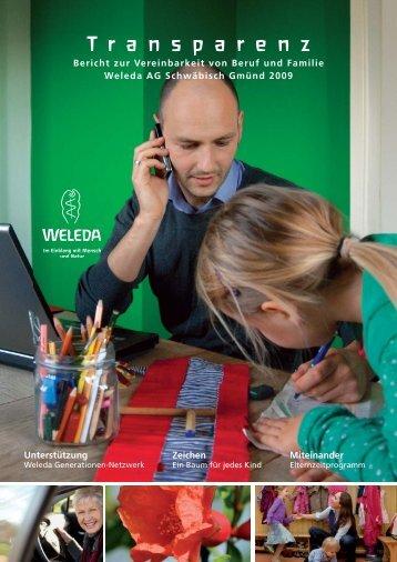 Bericht zur Vereinbarkeit von Beruf und Familie - Weleda