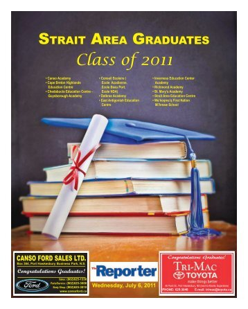 Grads 2011.pdf - The Pictou Advocate