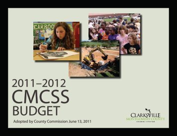 2011-2012 CMCSS Budget - Clarksville-Montgomery County Schools