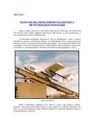 Pilóta nélküli repülőgépek fejlesztése a HM Technológiai Hivatalban