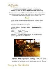 CUSTOM PREMIER ITINERARY – BOTSWANA - Pioneer Africa