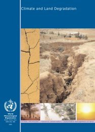 Climate and Land Degradation - WMO