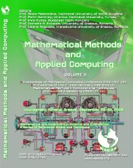 MATHEMATICAL METHODS AND APPLIED - Wseas.us