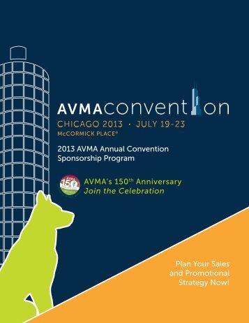 AVMA's 150th Anniversary Join the Celebration 2013 AVMA Annual ...