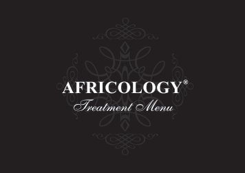 Download Africology's Treatment Menu - Sun International