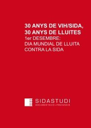 30 anys de vih/sida, 30 anys de lluites - Sida Studi