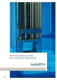 Heat exchangers & coolers for nuclear power applications - Luvata