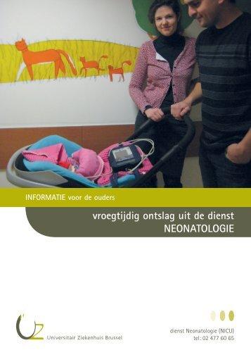 vroegtijdig ontslag uit de dienst NEONATOLOGIE - UZ Brussel ...