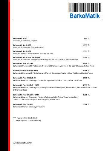 BarkoMatik ® Fiyat Listesi