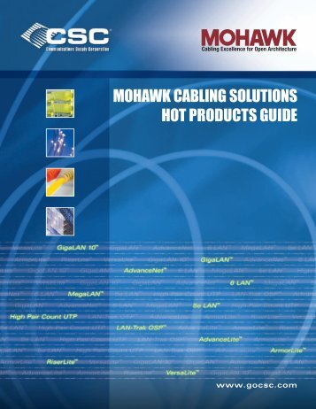 hot products guide mohawk cabling solutions - Communications ...