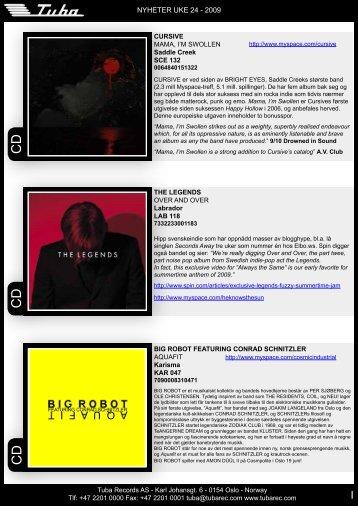tubanytt uke 24 - Tuba Records