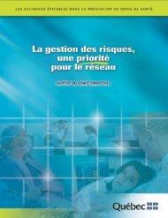La gestion des risques, une priorité pour le réseau - Gouvernement ...