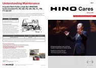 Understanding Maintenance - hino global