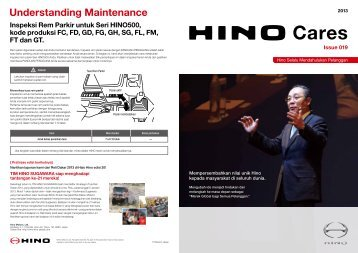Understanding Maintenance - hino global