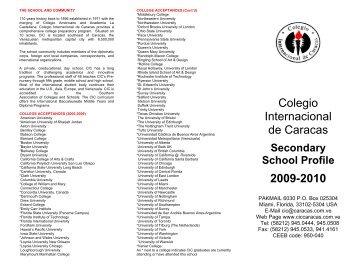 SS Profile - Colegio Internacional de Caracas