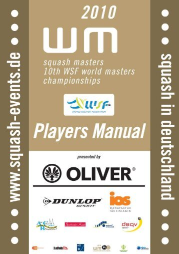Players Manual of the World Championships - Squash ...