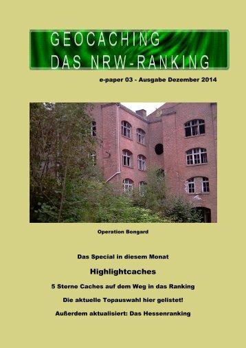 Geocaching NRW-Ranking Dezember 2014