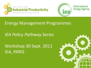Energy Management Programmes - International Energy Agency