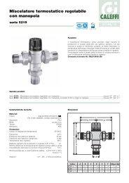 Miscelatore termostatico regolabile con manopola - Caleffi