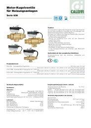 Motor-Kugelventile für Heizungsanlagen - Caleffi
