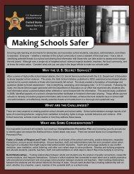 Making Schools Safer - United States Secret Service
