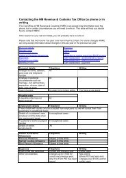 Contacting the HM Revenue & Customs Tax Office by ... - Taxation