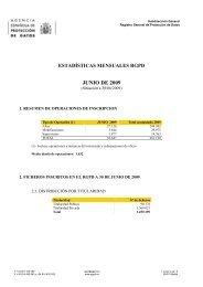 JUNIO DE 2009 - Agencia Española de Protección de Datos