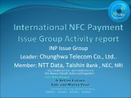 International NFC Payment Issue Group - Global Business Dialogue ...