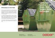 Containerdienst - Geiger