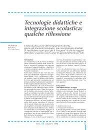 Tecnologie didattiche e integrazione scolastica: qualche riflessione