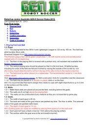 RCJA GEN II Soccer Rules 2013 30-4.pdf - RoboCupJunior Australia