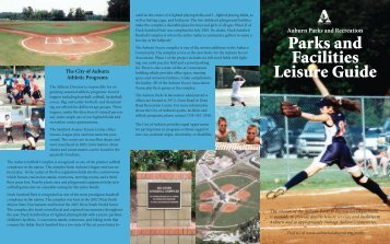 Parks and Facilities Leisure Guide - City of Auburn
