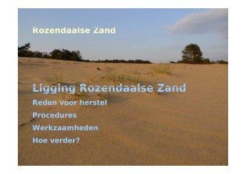Ligging Rozendaalse Zand - VeldwerkPlaatsen