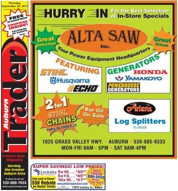 Log Splitters - Auburn Trader