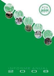 Informe Anual Español 2008 - Laboratorios Rovi