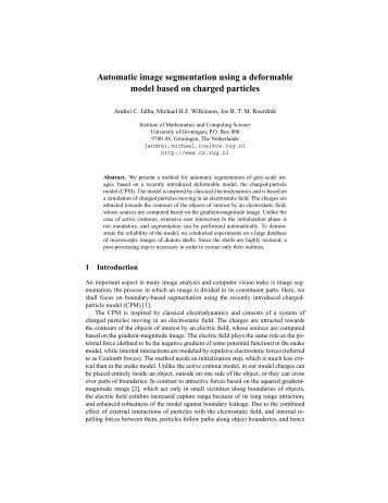 Automatic image segmentation using a deformable model based on ...