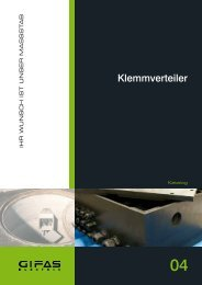 Register 4 Klemmverteiler - GIFAS W.J. Gröninger ELECTRIC GmbH