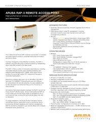 ARUBA RAP-3 REMOTE ACCESS POINT - Arrow ECS