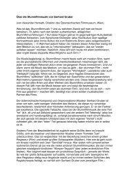 Über die Stummfilmmusik von Gerhard Gruber ... - ART-BLOXX.com