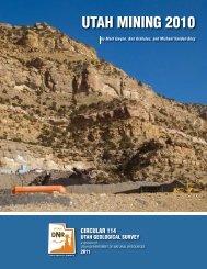 UTAH MINING 2010 - Utah Geological Survey - Utah.gov
